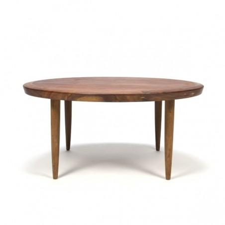 Teakhouten salontafel rond model