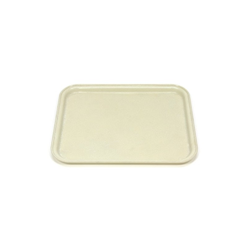 Fiberglass tray cream colored