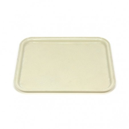 Fiberglass tray cream colored