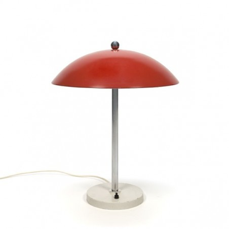 Red table lamp by W.H. Gispen
