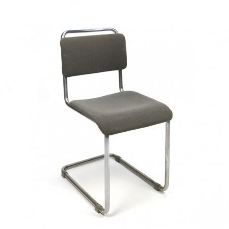 Gispen buisframe stoel met ribstof