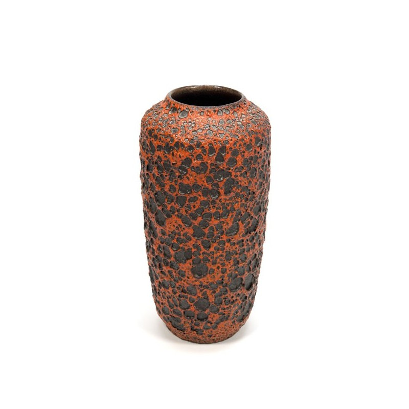 Large Fatlava vase orange