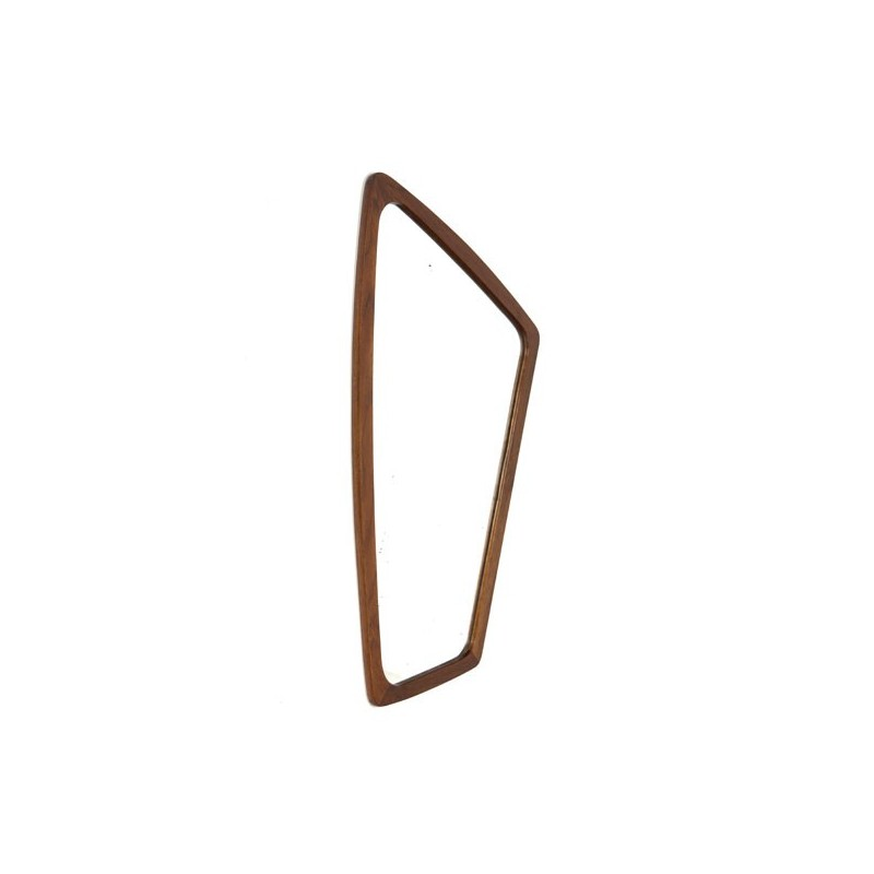 Teak mirror organic shape