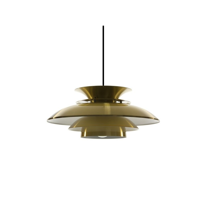 Disc pendant brass-colored