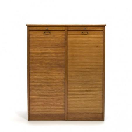 Deense archiefkast met roldeuren