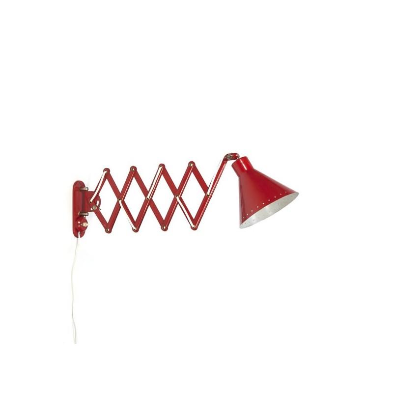 Schaarlamp rood met geperforeerde rand