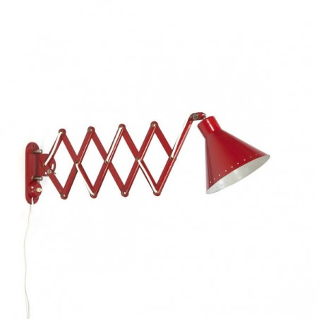 Wall lamp red with perforated edge