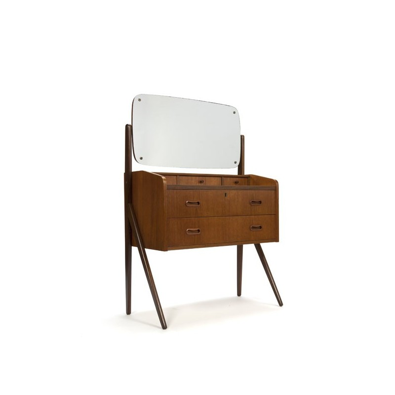Teak dressing table Danish vintage design
