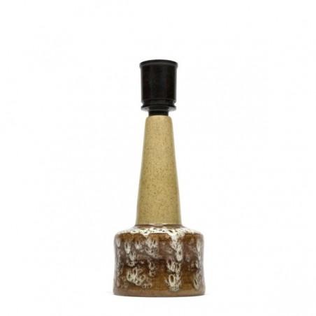 Ceramic lamp base cream/ brown
