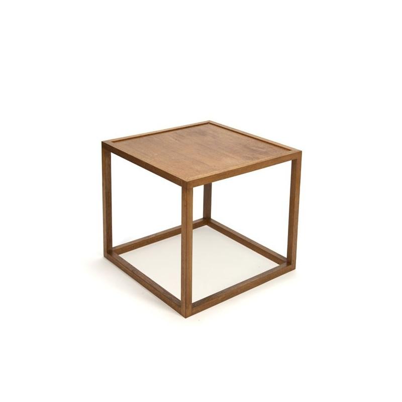 Kubistische houten bijzettafel