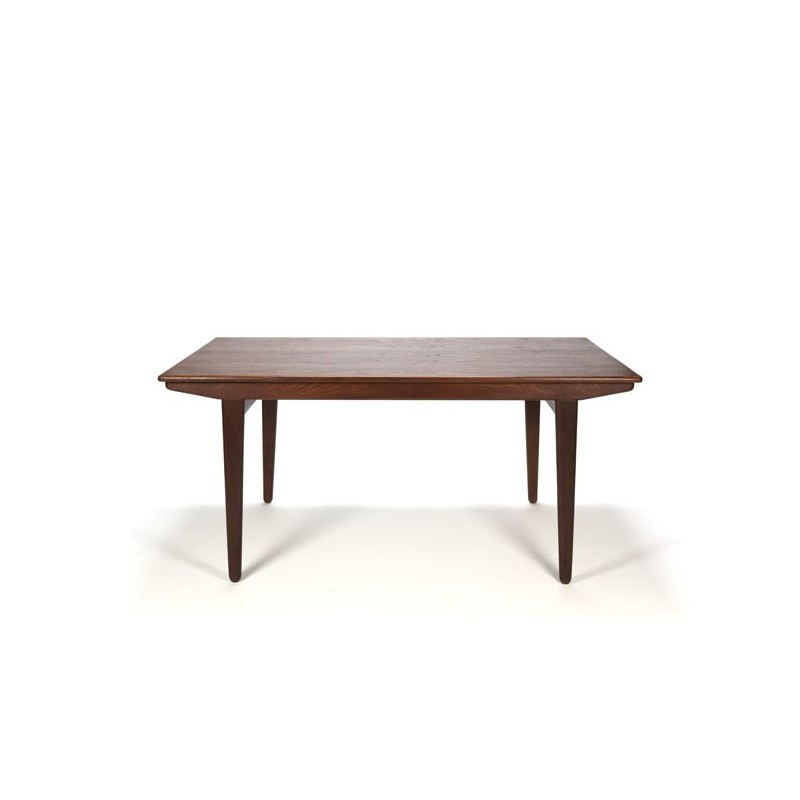 Danish dining table with extendable blade