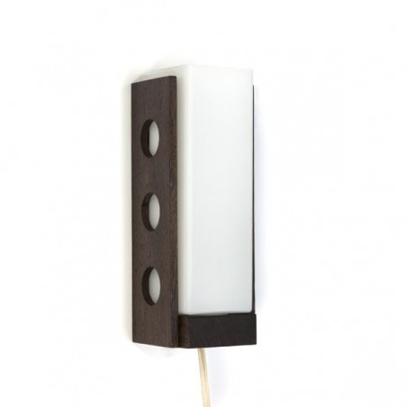 Wall light glass with wenge wood