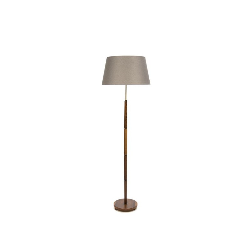 Floor lamp on a teak base