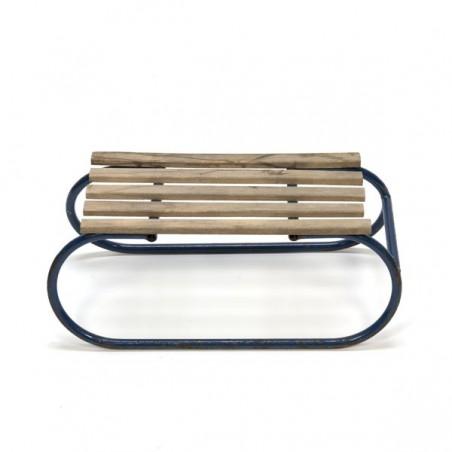 Blue metal sledge