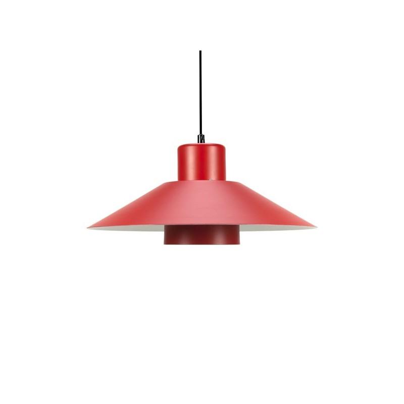 Red metal hanging lamp