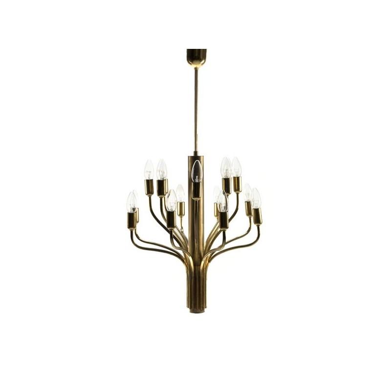 Messing hanglamp 1960's