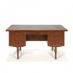 Large Danish desk in teak