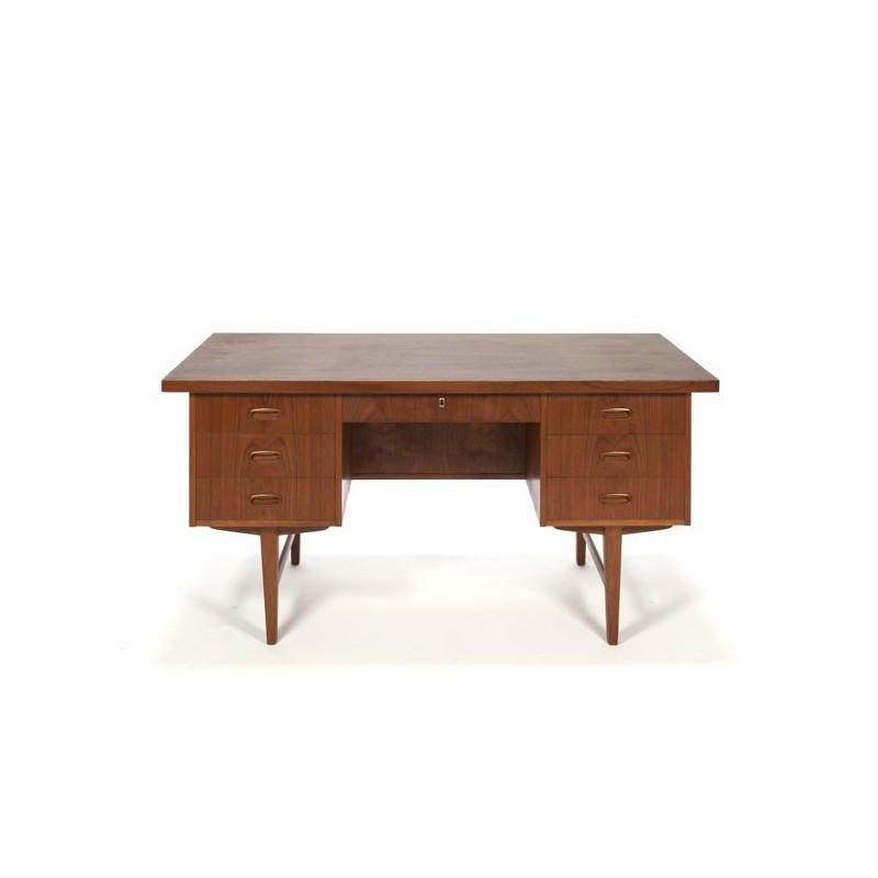 Large Danish desk in teak