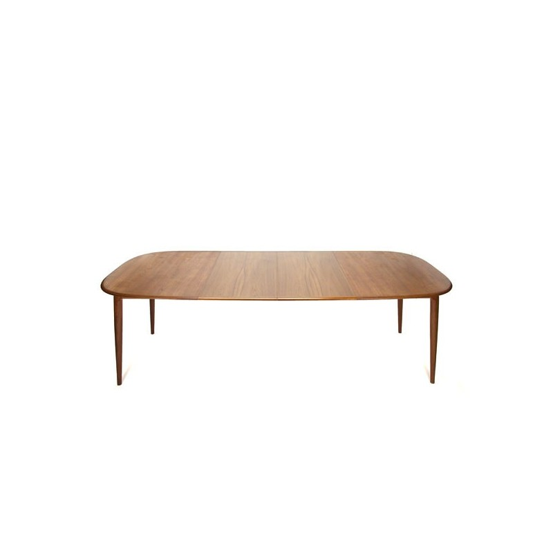 Large teak dining table by Skovmand & Andersen