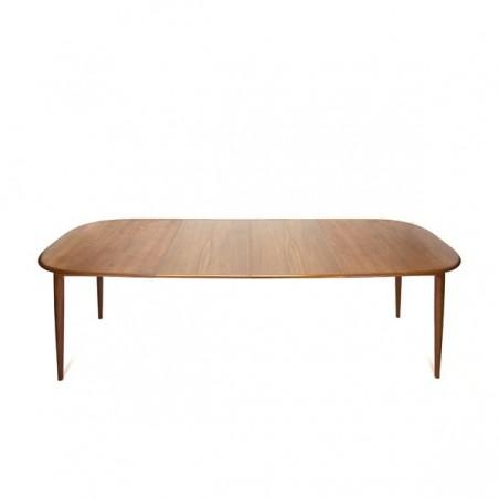 Large teak dining table by Skovmand & Andersen