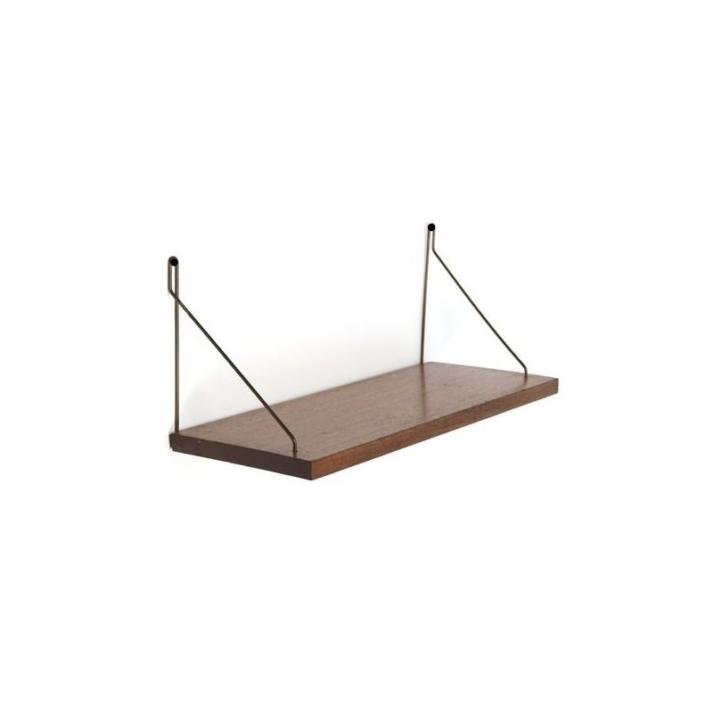 Bar Plank Aan Muur.Kleine Plank Aan Koperen Muurdelen Retro Studio