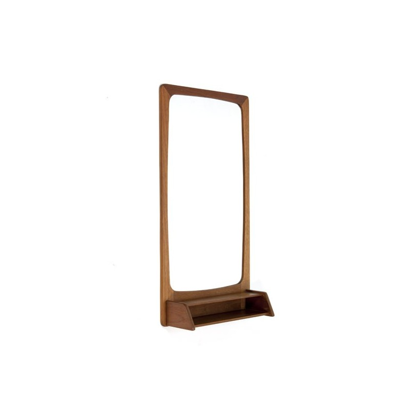 Teak mirror with small box