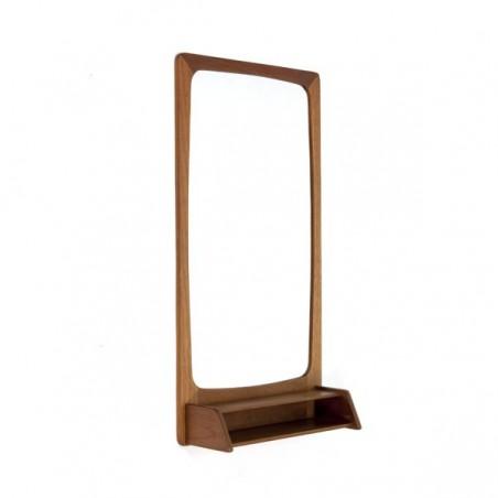 Teak mirror with small box
