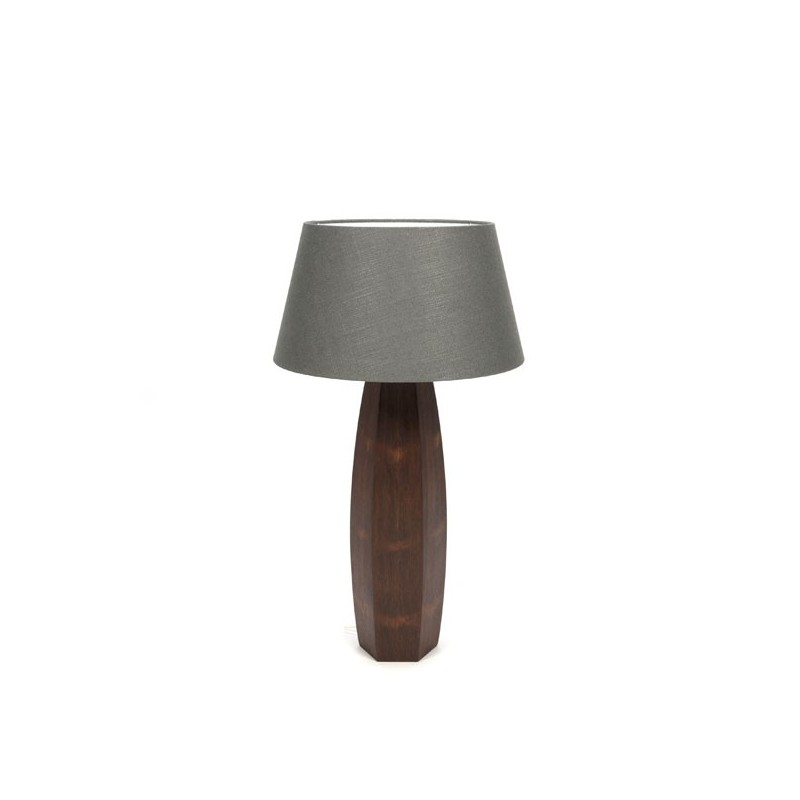 Large table lamp on teak base