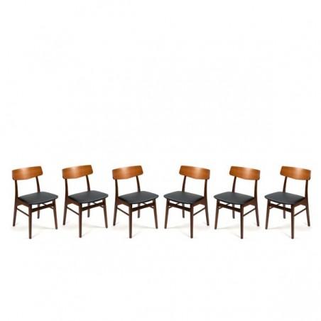 Teak chairs from Denmark set of 6