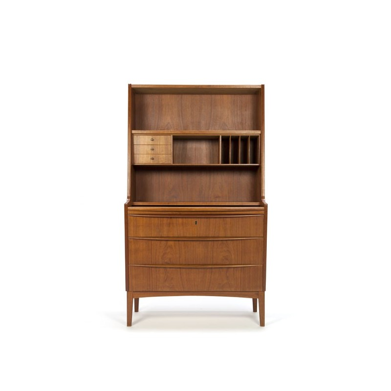 Scandinavian secretaire teak with high back