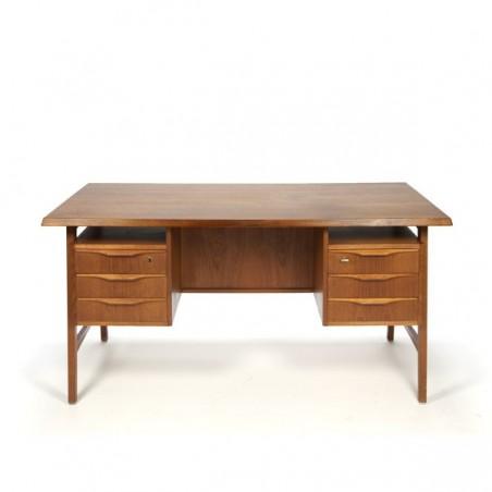 Large Scandinavian design desk in teak