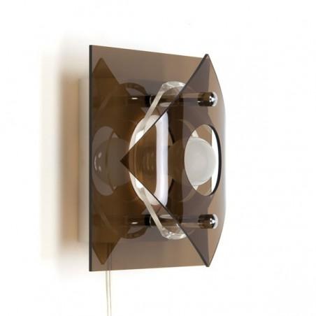 Vintage wandlamp plexiglas