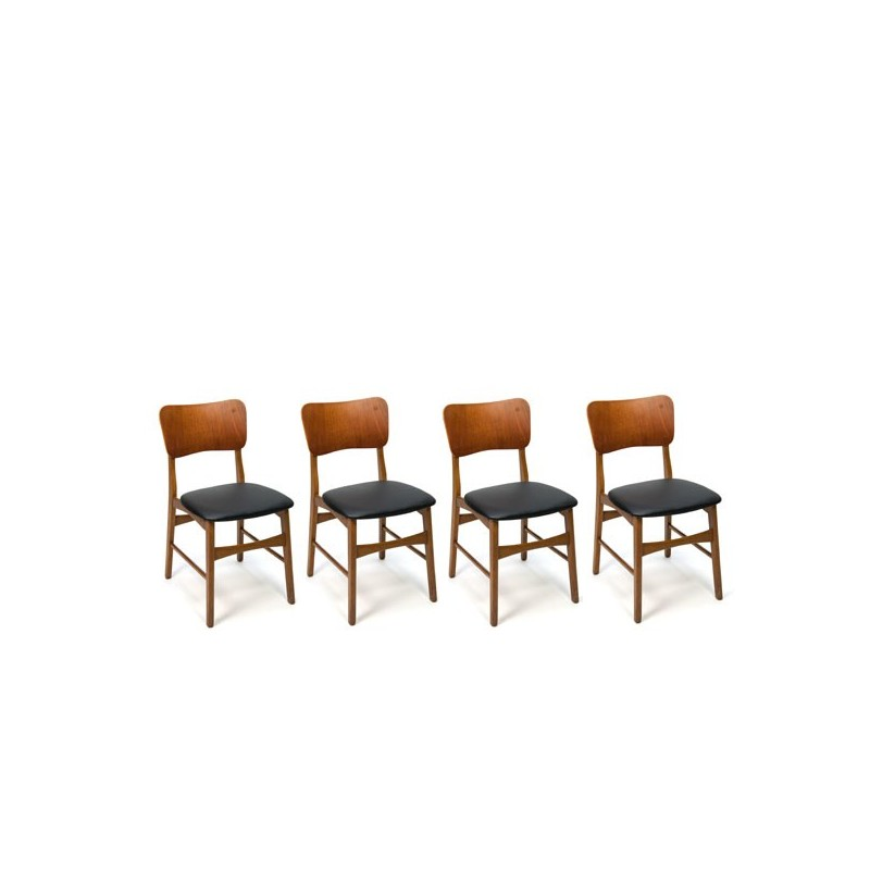 Danish chairs with teak back set of 4