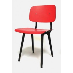 Friso kramer revolt stoel rood zwart 2 retro studio for Revolt stoel