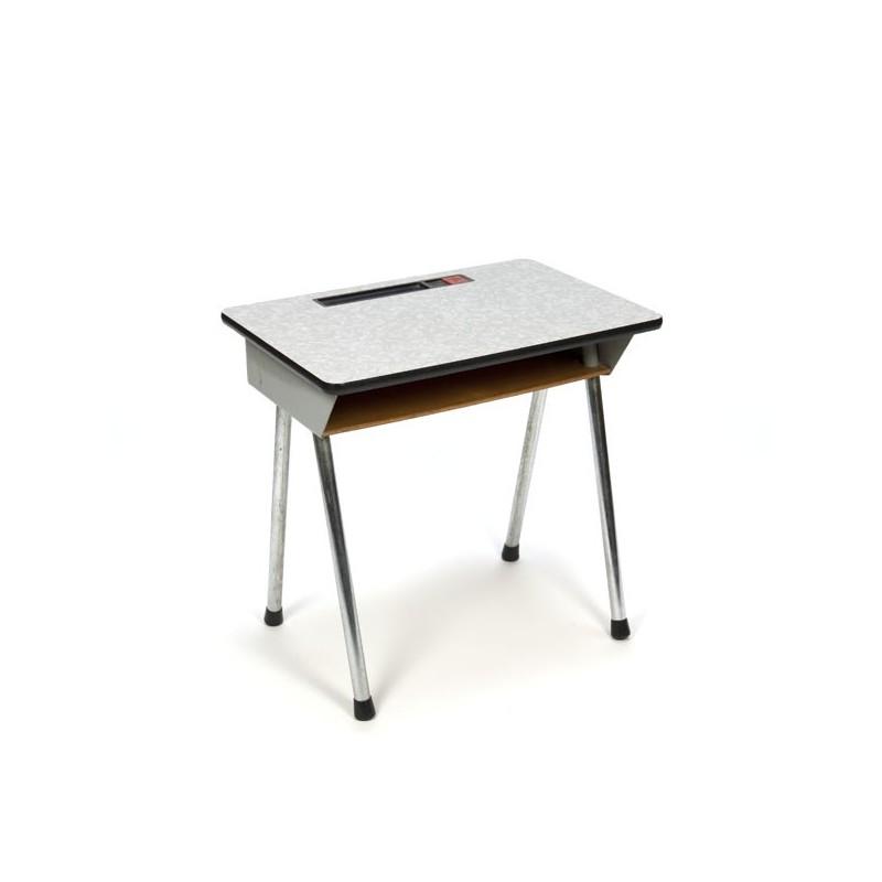 Industrial children's desk on chrome base