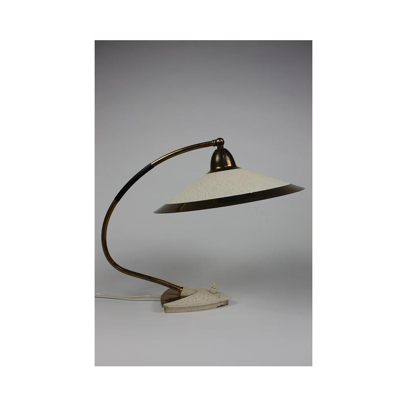 Table lamp 1950's with brass