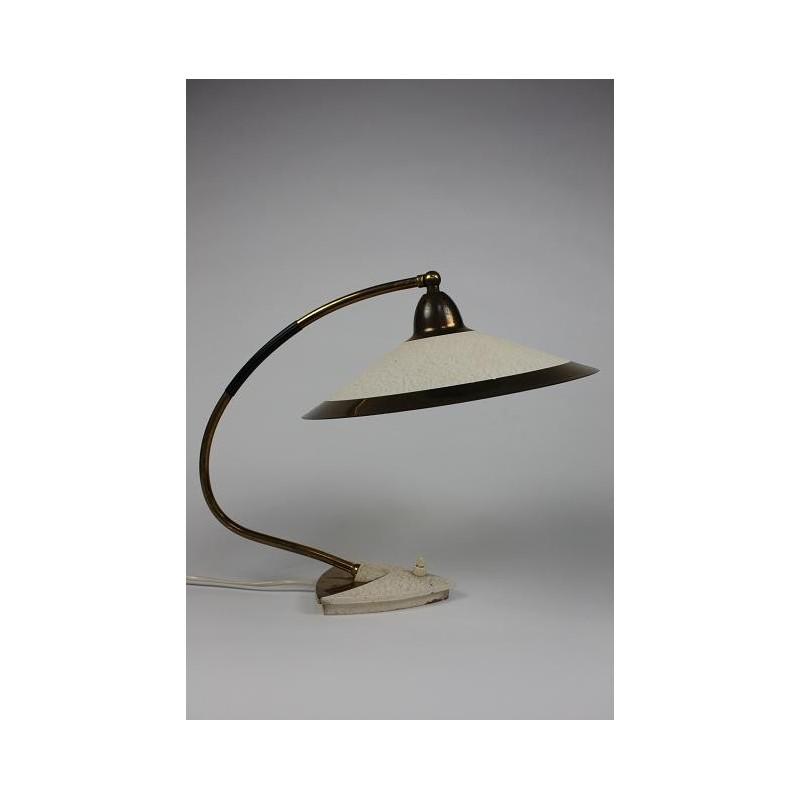 Tafellamp 50's met messing
