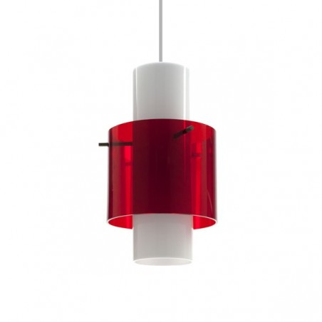 Plexiglazen hanglamp uit de zestiger jaren