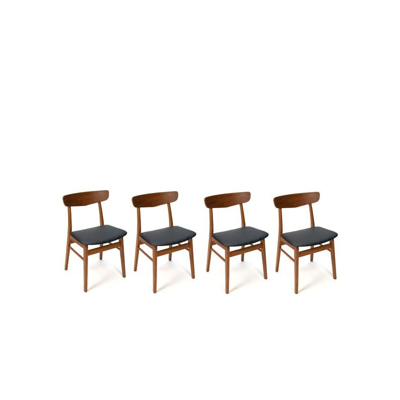 Teak chairs from Denmark set of 4