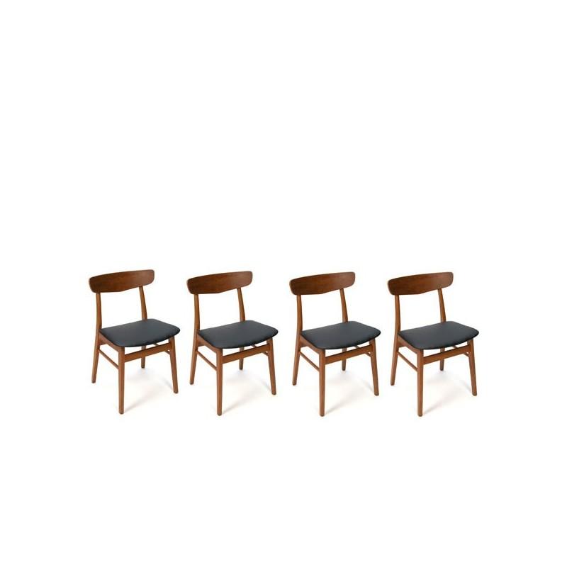 Teakhouten stoelen uit Denemarken set van 4