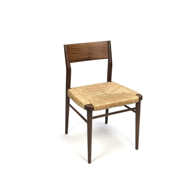 Wooden chair with paper cord seat