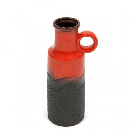 West-Germany vase red/ black