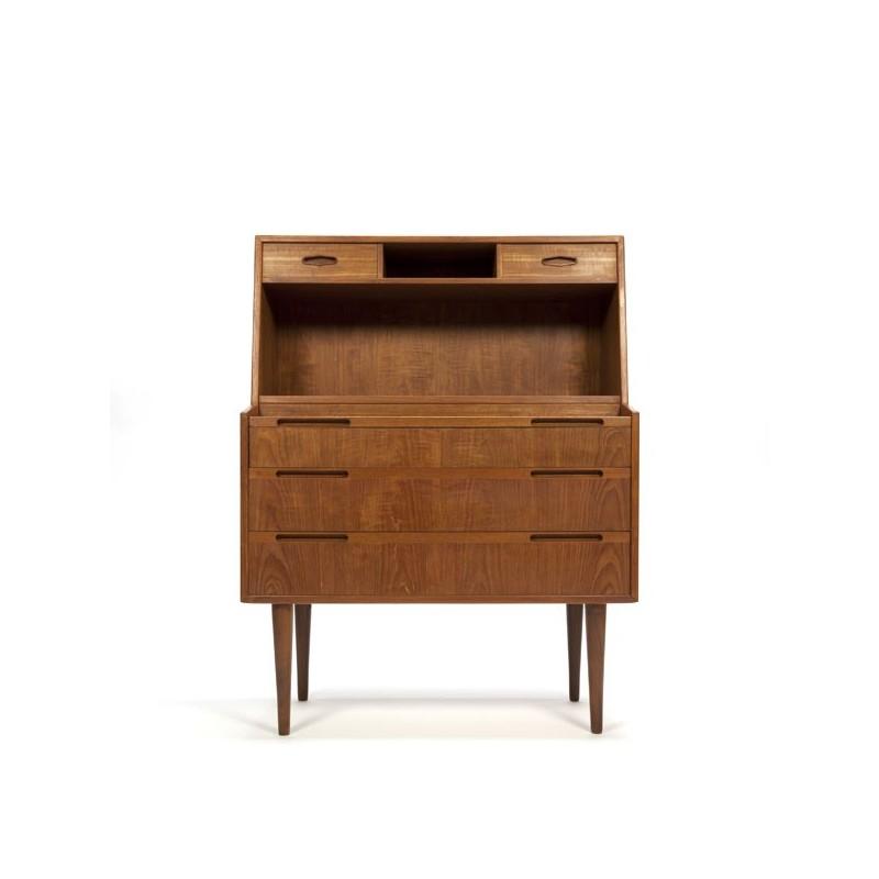 Deense design secretaire in teak