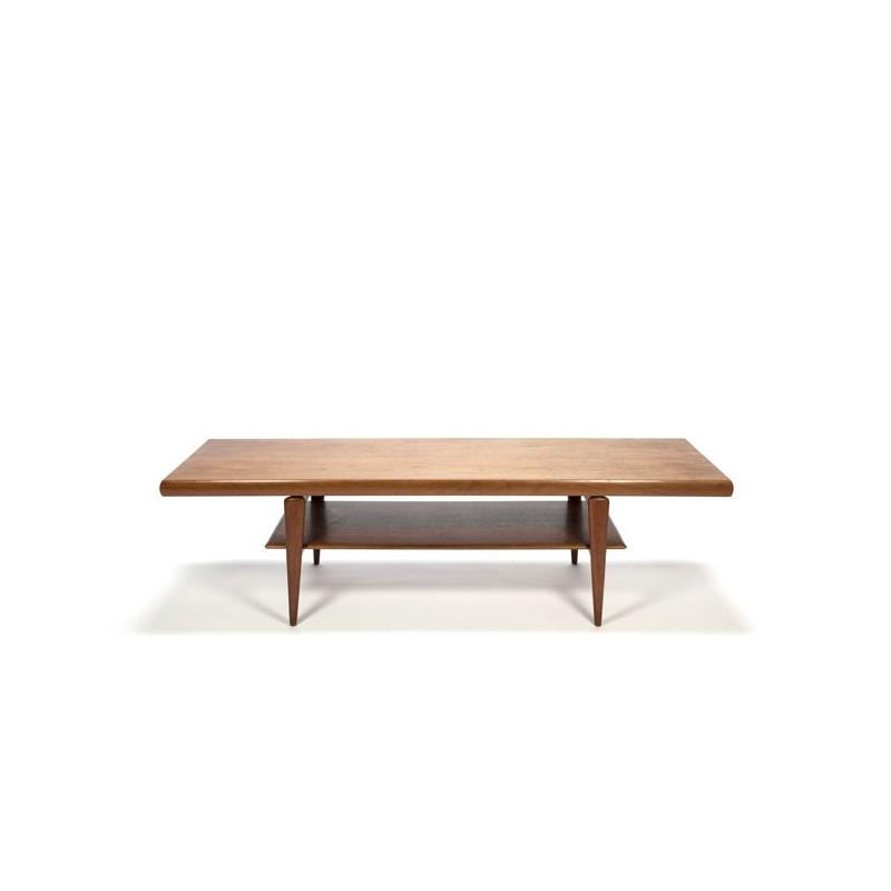 Grote Deense design salontafel in teak