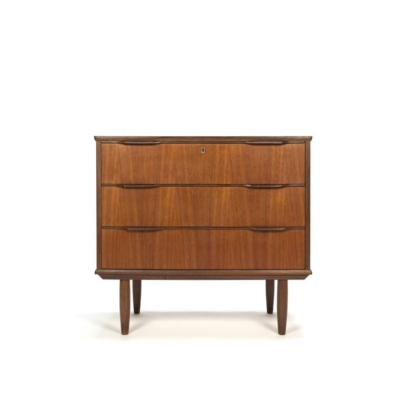 Danish teak dresser with 3 drawers