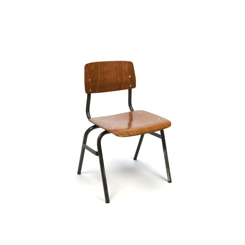 Industrial child's chair brown base