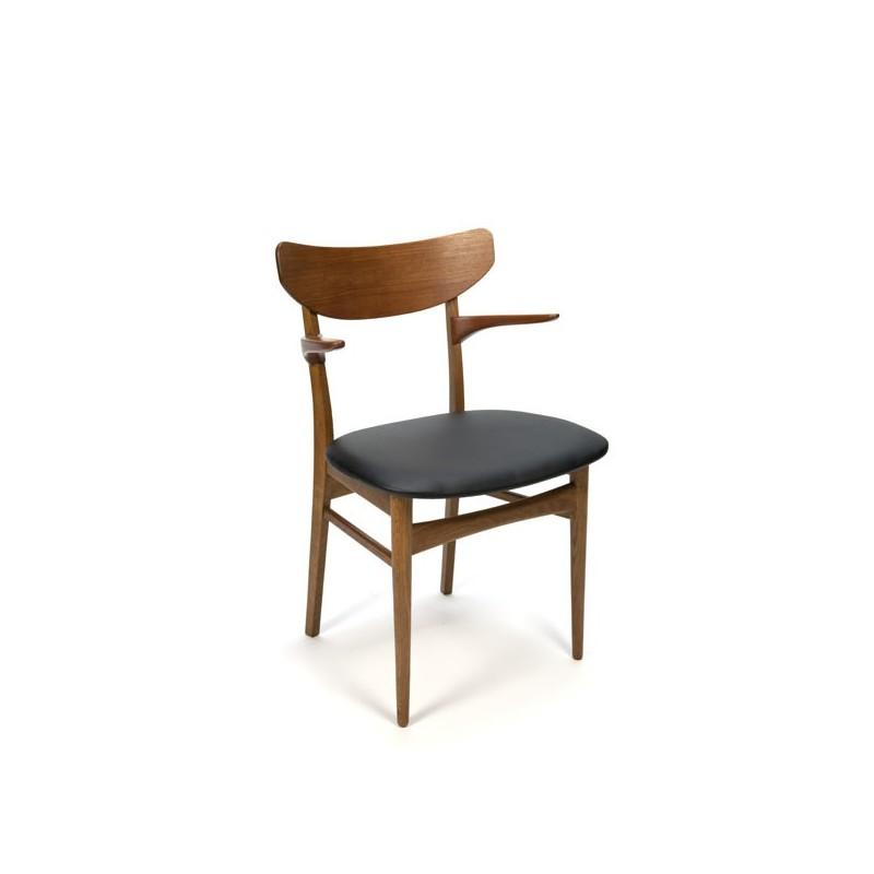 Danish desk chair with armrest