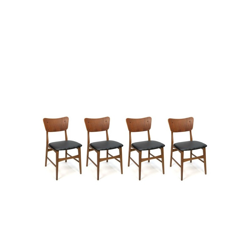 Danish dining chairs set of 4