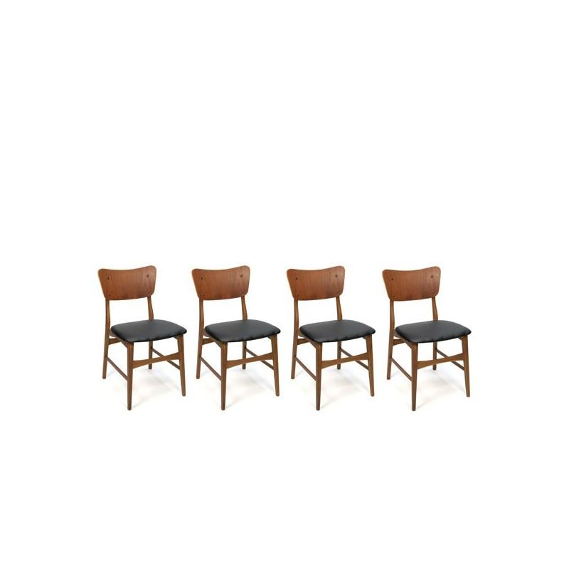 Deense eettafel stoelen set van 4