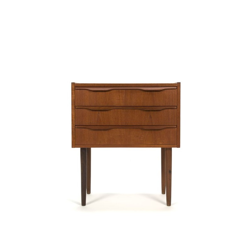 Teak chest of drawers with 3 drawers small model